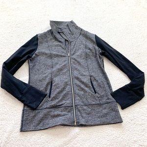 Lululemon textures two tone full zip run jacket